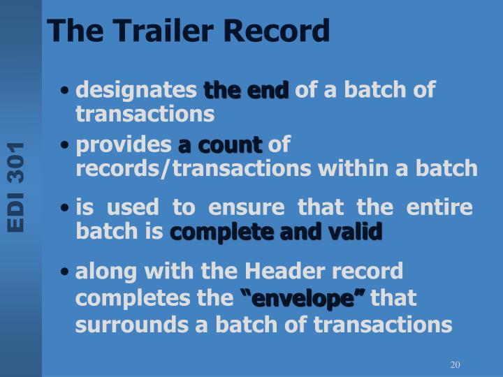 The Trailer Record