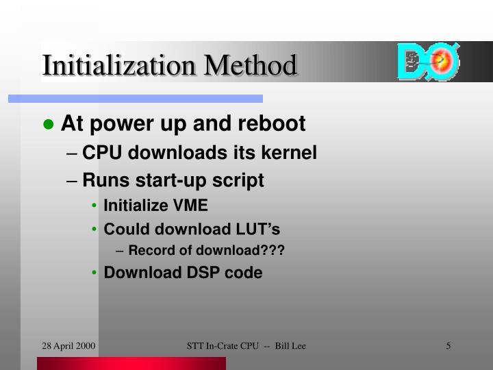Initialization Method