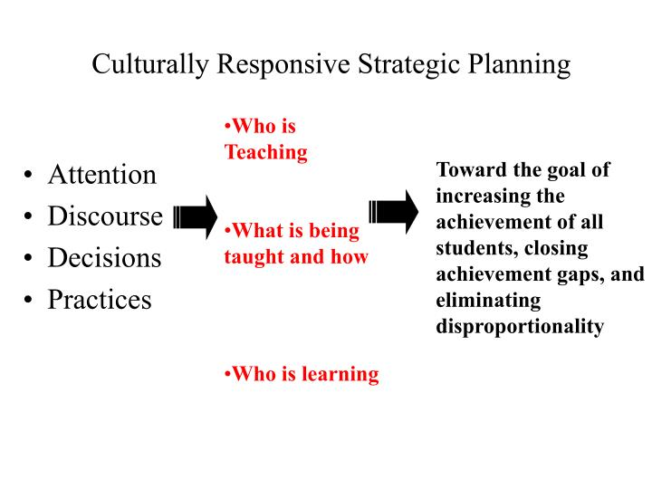Culturally Responsive Strategic Planning