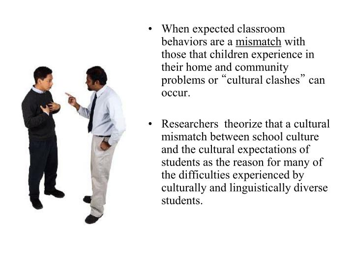When expected classroom behaviors are a