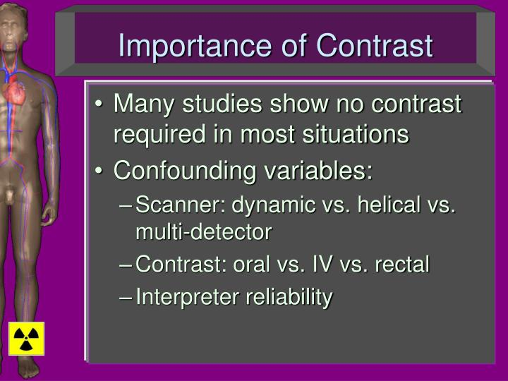 Importance of Contrast