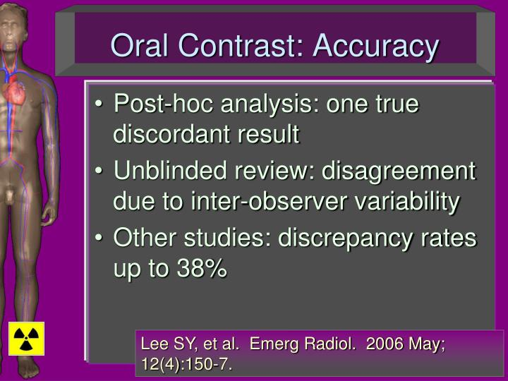 Oral Contrast: Accuracy