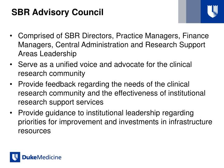 SBR Advisory Council