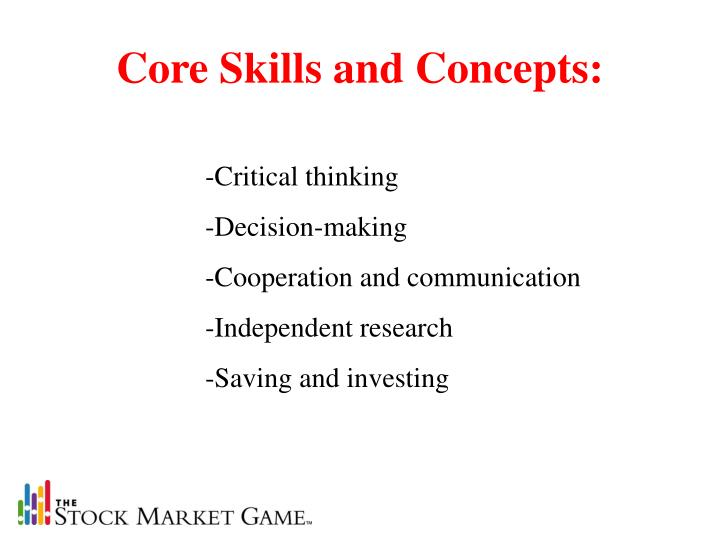Core skills and concepts