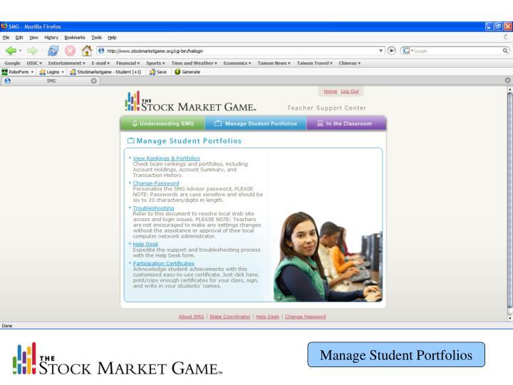 Manage Student Portfolios