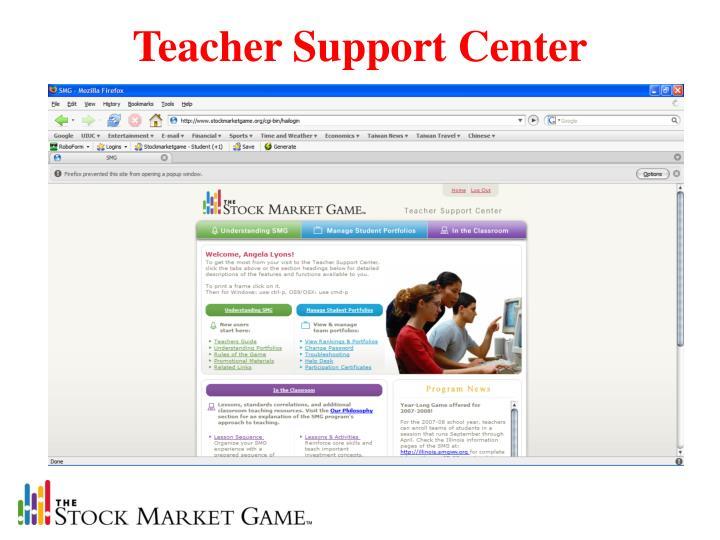 Teacher Support Center