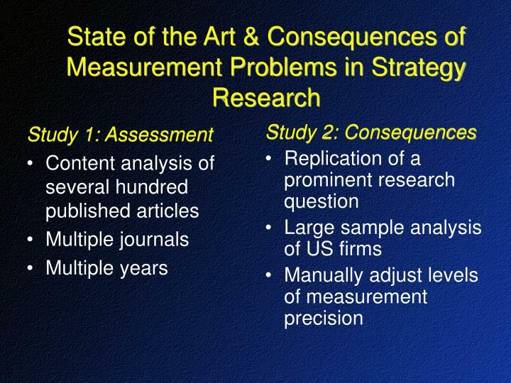 Study 1: Assessment