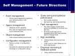 self management future directions