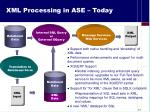 xml processing in ase today