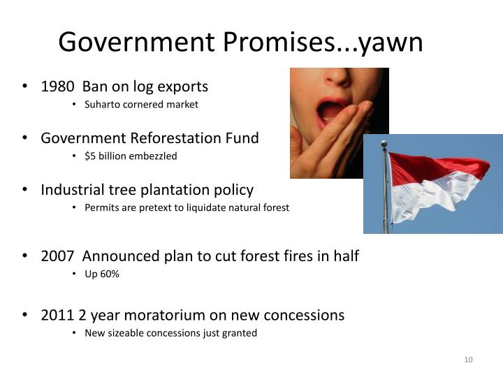 Government Promises...yawn
