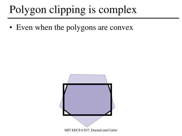 Polygon clipping is complex