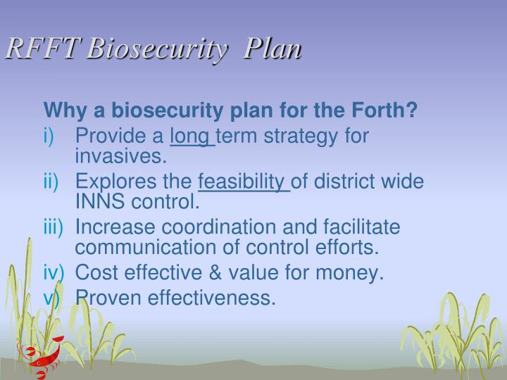 RFFT Biosecurity  Plan