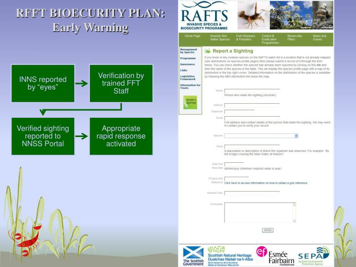 RFFT BIOECURITY PLAN: Early