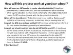 how will this process work at your our school