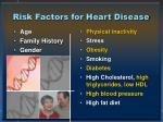 risk factors for heart disease