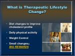 what is therapeutic lifestyle change