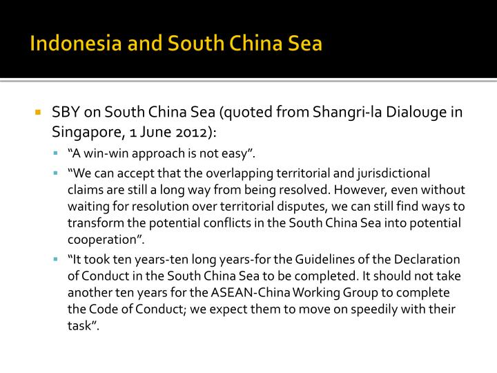 Indonesia and South China Sea