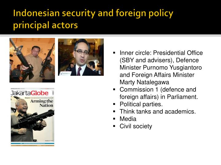 Indonesian security and foreign policy principal actors