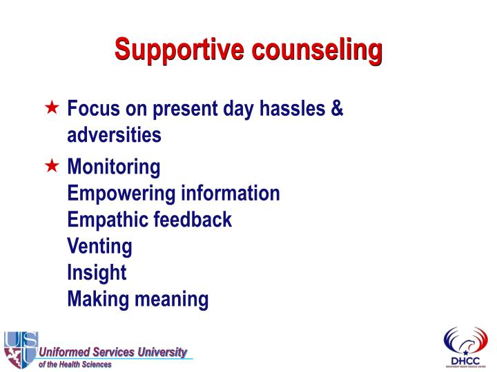 Supportive counseling
