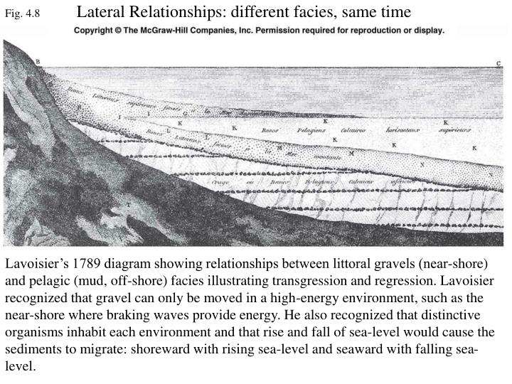 Lateral Relationships: different facies, same time