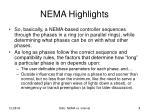 nema highlights