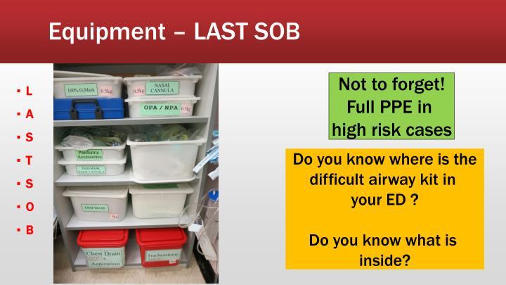 Equipment – LAST SOB
