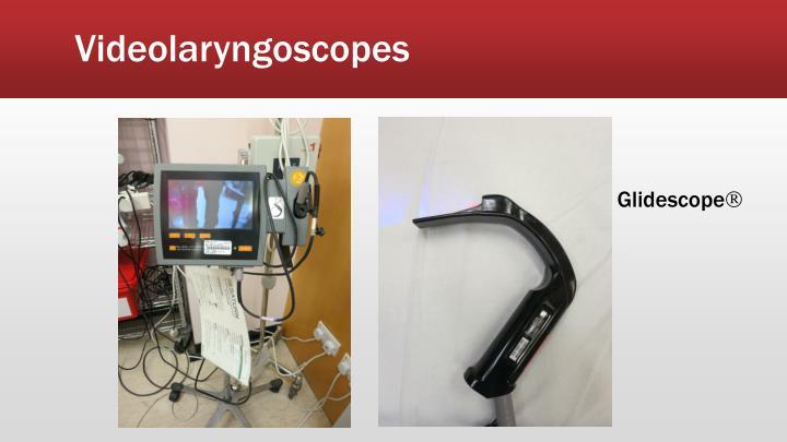 Videolaryngoscopes