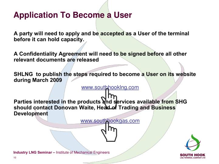 Application To Become a User