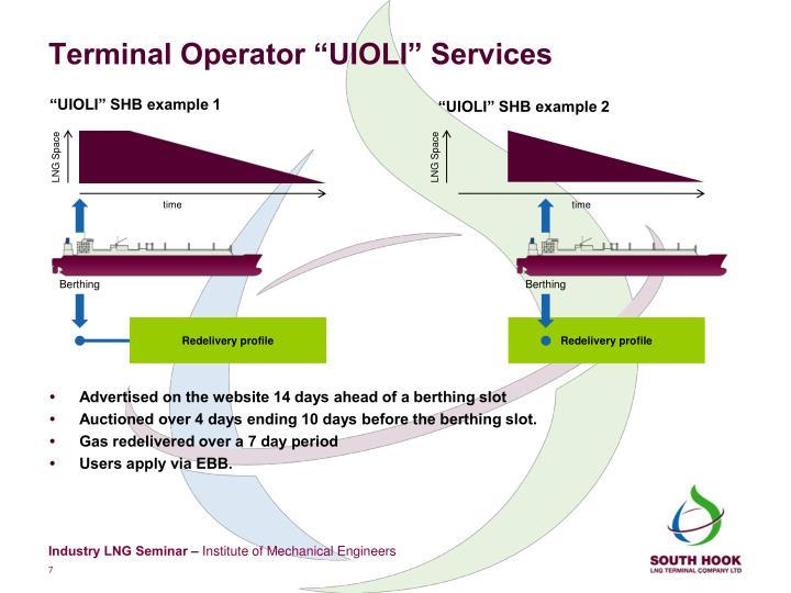 "Terminal Operator ""UIOLI"" Services"
