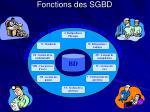 fonctions des sgbd