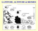 latitude altitude biomes
