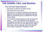 the gospel call and election