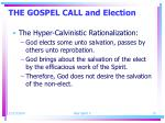 the gospel call and election1