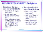 union with christ scripture