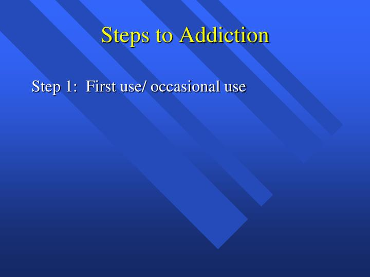 Steps to Addiction