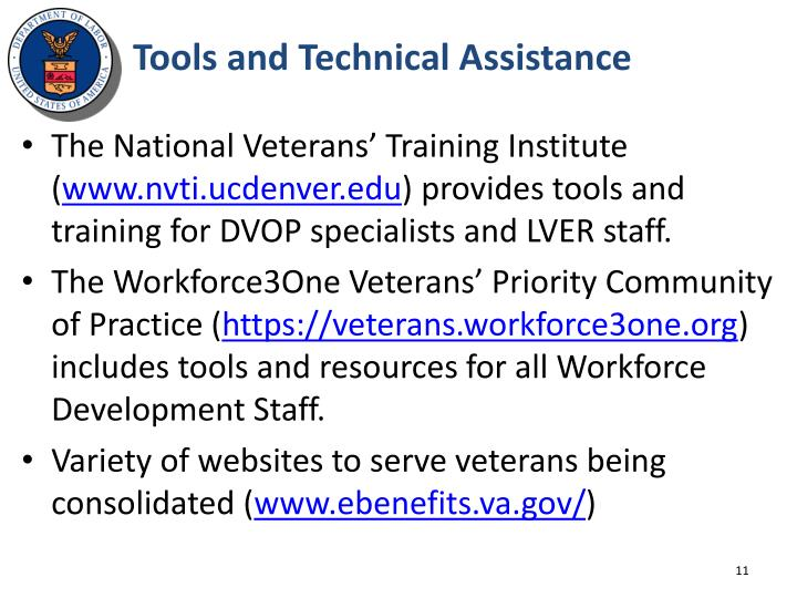 Tools and Technical Assistance