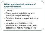 other mechanical causes of hypoventilation