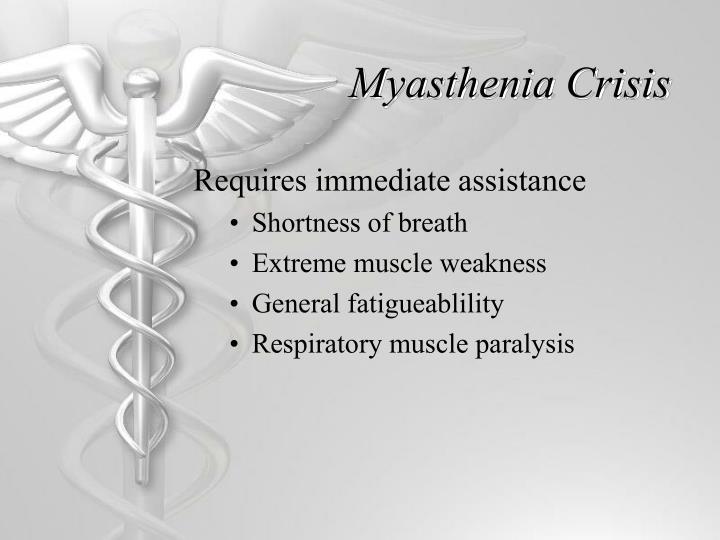 Myasthenia Crisis