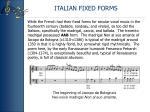 italian fixed forms