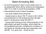 batch annealing ba2