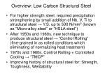 overview low carbon structural steel1