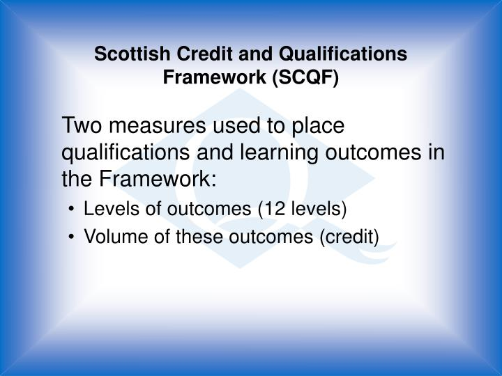 Scottish Credit and Qualifications Framework (SCQF)