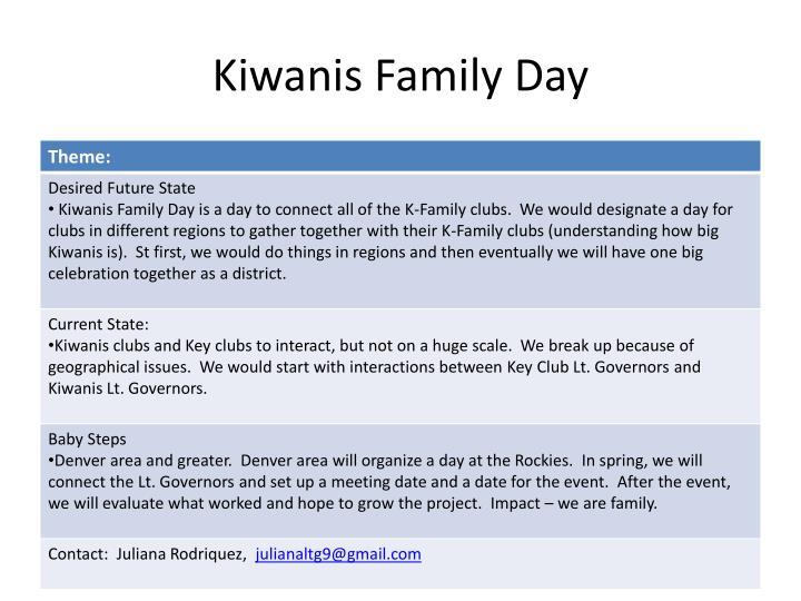 Kiwanis Family Day
