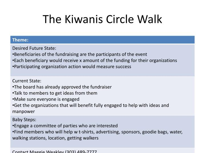 The Kiwanis Circle Walk