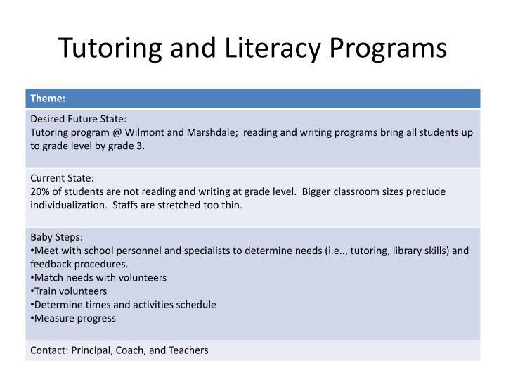 Tutoring and Literacy Programs