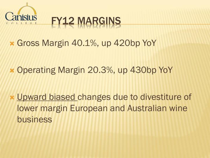 Gross Margin 40.1%, up 420bp YoY