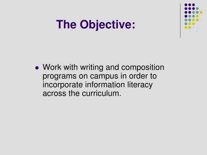 The Objective: