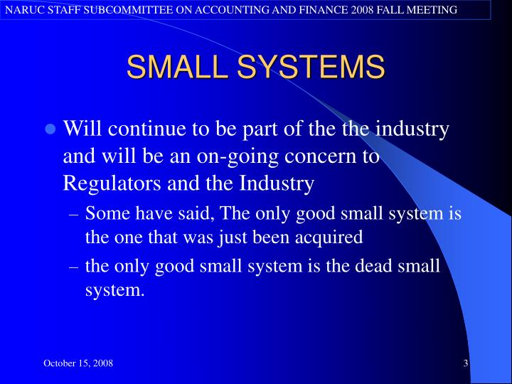 Small systems