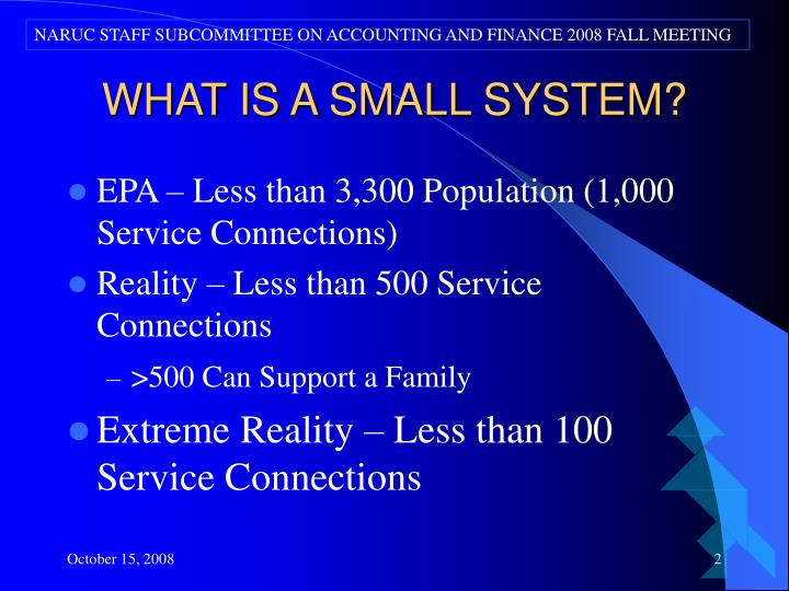 What is a small system