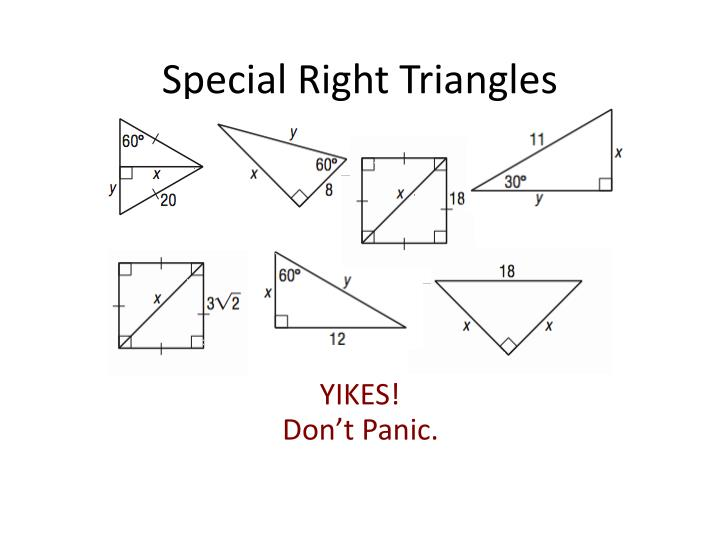 Special right triangles1